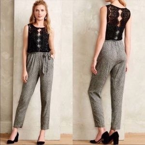 Elevenses Anthropologie Lace Medley Jumpsuit 8
